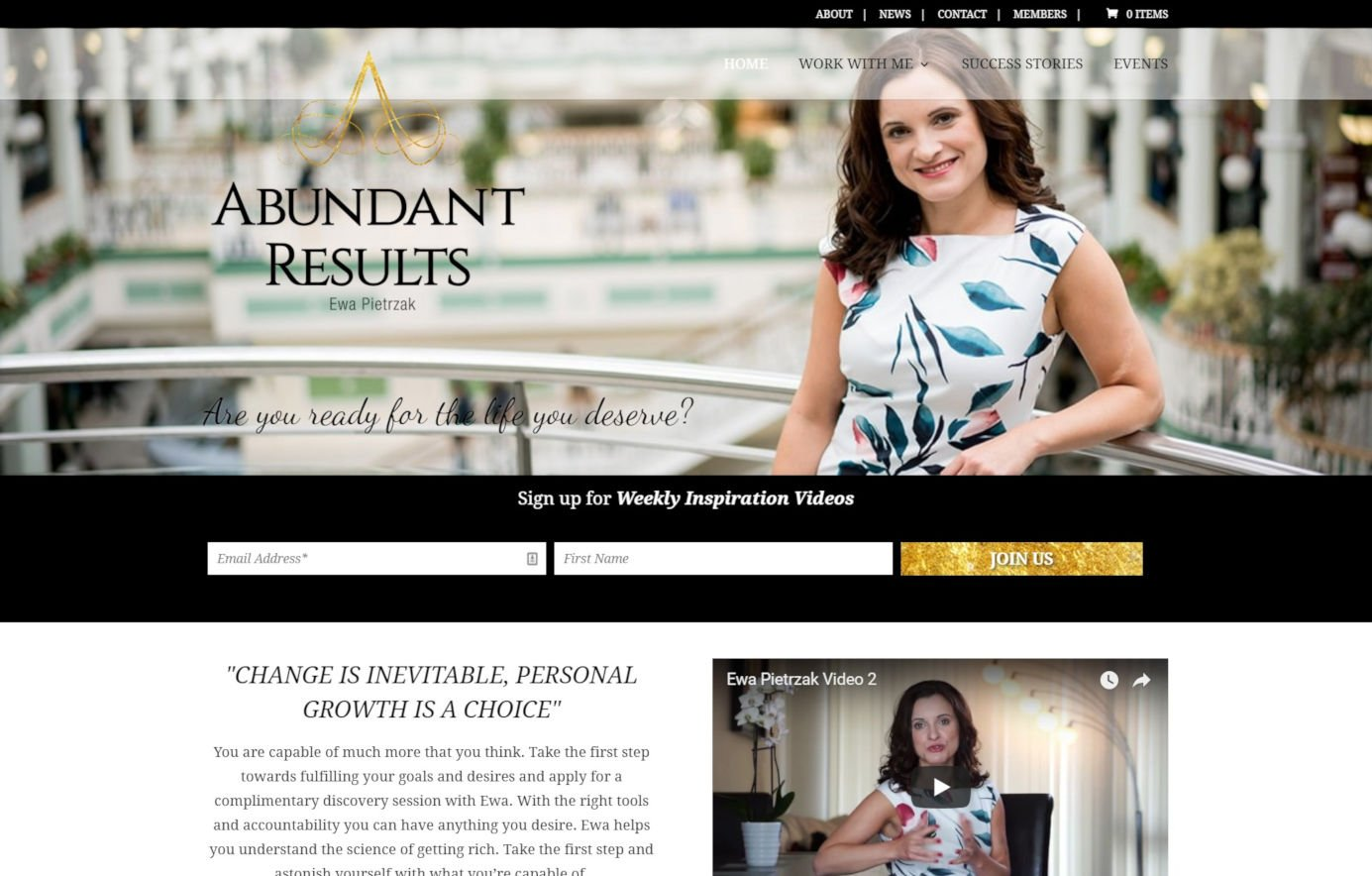 Abundant Results - Coaching Website Design - Featured