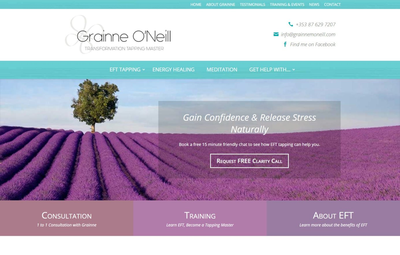 Grainne O'Neill - Holistic Website Design - Featured