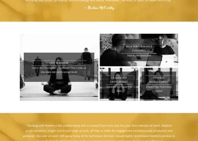 Nadine-Mccarthy-Home Page Design