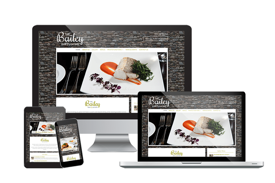 The Bailey Bar & Eatery Website Design