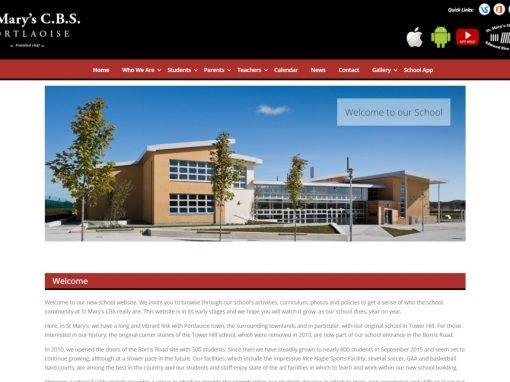 St. Mary's CBS Portlaoise <em>Website Design</em>