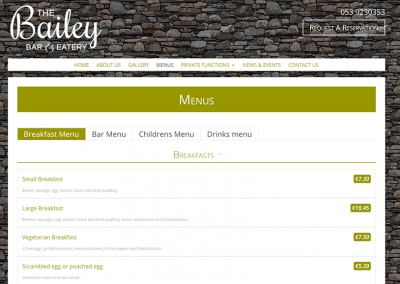 The-Bailey-Menu-Page