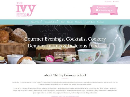 The Ivy Cookery School <em>Ecommerce Website Design</em>