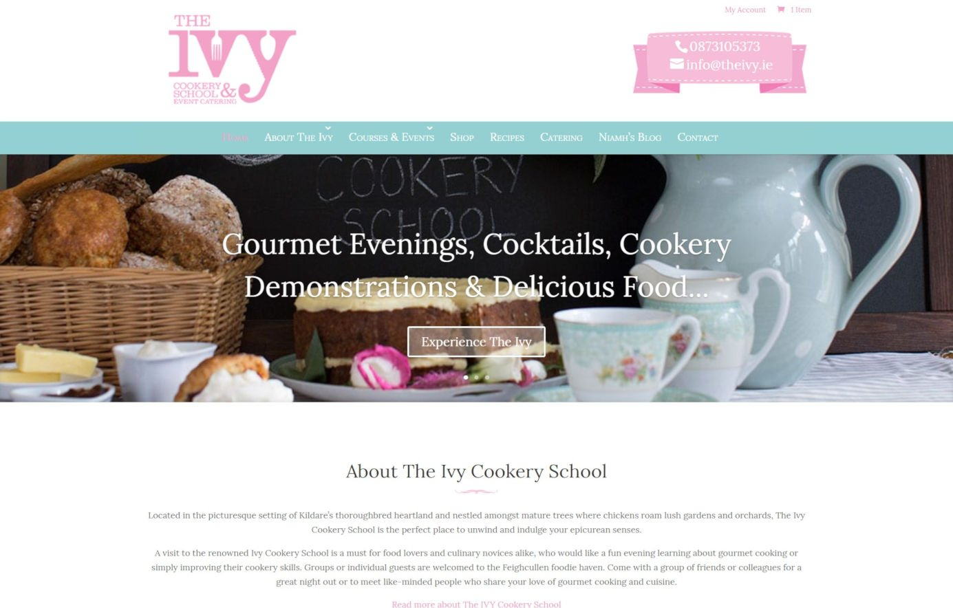 The IVY Cookery School - Services Page Featured