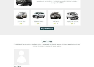 Sage Taxis - Taxi Website Design - Poppyvine - About Page