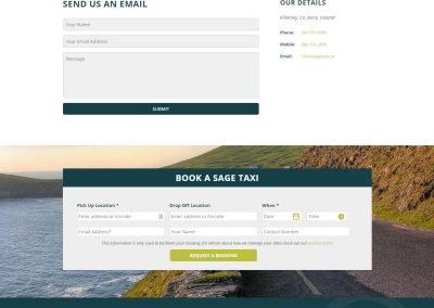Sage Taxis - Taxi Website Design - Poppyvine - Contact Page