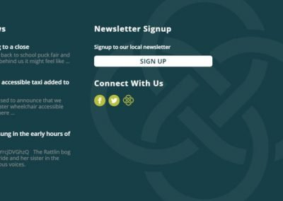Sage Taxis - Taxi Website Design - Poppyvine - Footer Detail