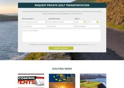 Sage Taxis - Taxi Website Design - Poppyvine - Golf Tours Page