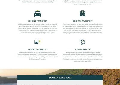 Sage Taxis - Taxi Website Design - Poppyvine - Local Taxi Page