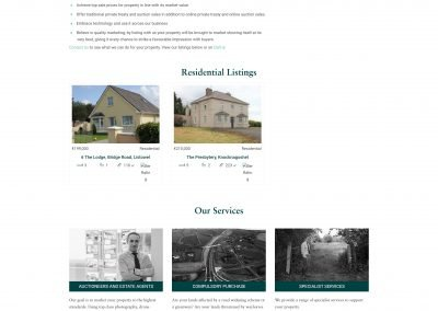John Corridan Estate Agents and Chartered Surveyors Website Design Residential Property Page