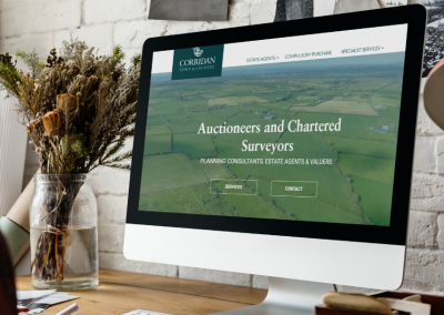 John Corridan Estate Agents and Chartered Surveyors Website Design on PC