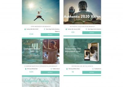 Yoga Soul Academy Wordpress Website Events Page