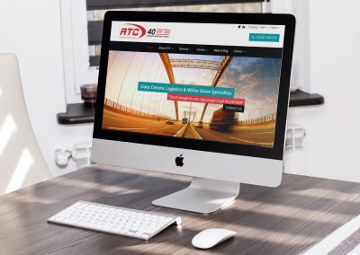 ATC Logistics Wordpress Website Design Home Page View on Imac