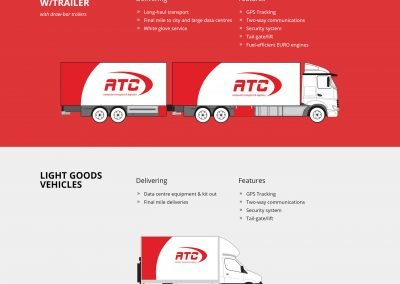 ATC Logistics Wordpress Website Design Our Fleet Page
