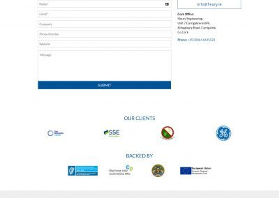 Fleury Engineering Website Contact Page Design