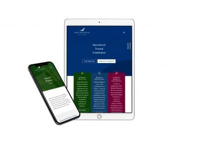 Mcsweeney Solicitors Website on Ipad and Iphone View