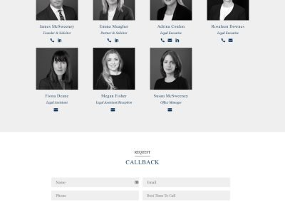 Mcsweeney Solicitors Wordpress Website Design About Page