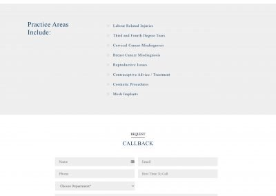 Mcsweeney Solicitors Wordpress Website Design Womens Medical Negligence Page