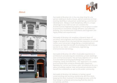 Kenneally Murphy Architects Wordpress Website About Page Design