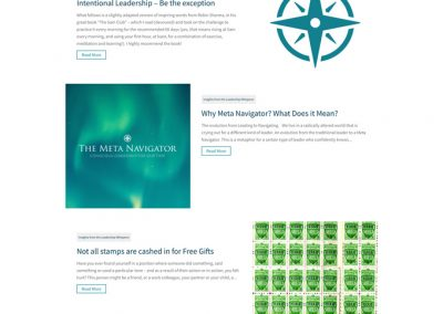 Azurite Insights From The Leadership Whisperer Page Design