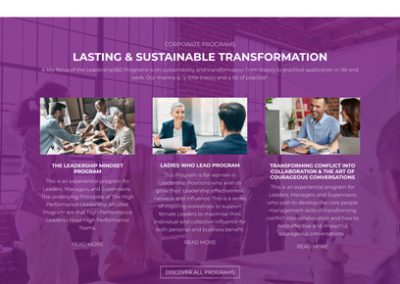 Leadership360 Home Page Design