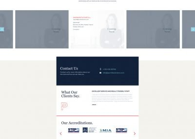 Purtil Solicitors Our Team Page Design