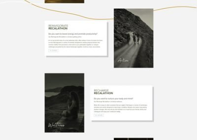 Recalibration All Experiences Page Design
